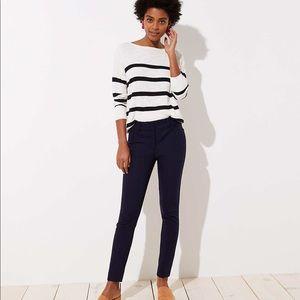 Loft navy Marisa skinny ankle pants NWT